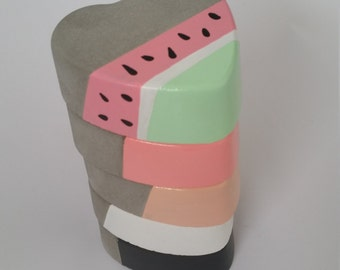Handmade Painted Concrete Love Heart