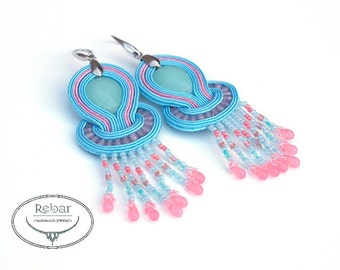 "Soutache earrings ""Nubhotepti"""