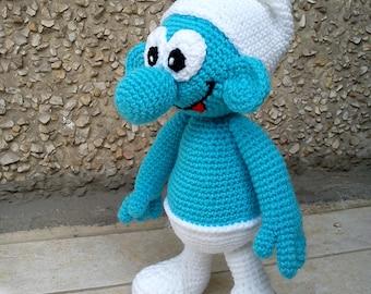 Smurf  amigurumi PATTERN crochet