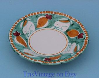 Vintage ~ Solimene ~ Vietri ~ Capagna ~ Italian Pottery ~ Soup Bowl ~ Pasta Bowl