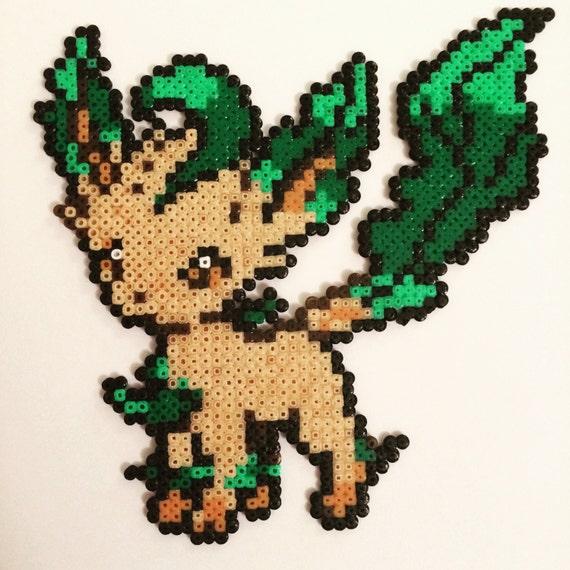 Leafeon pokemon mini hama perler pixel art by conderscrafts - Hama beads cuadros ...