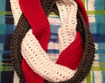 Braided infinity scarf