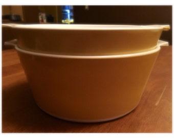 Yellow Corning Ware Set