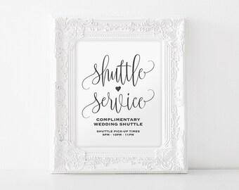 Shuttle Service Sign, Shuttle Service Printable, Wedding Sign, Wedding Printable, Wedding Shuttle Sign, PDF Instant Download #BPB203_78