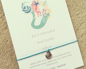 Be a mermaid wish bracelet