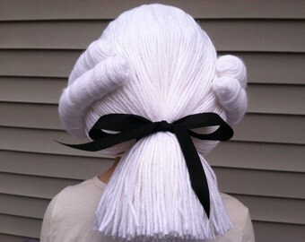 Colonial wig, Powdered wig, Washington wig, Hamilton wig, Boys costume wig, Mens wig, Boys Halloween, Halloween costume, Kids costume