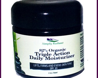 Organic AntiAging Daily Moisturizer|Anti Aging Face Cream|Daily Face Moisturizer SPF30