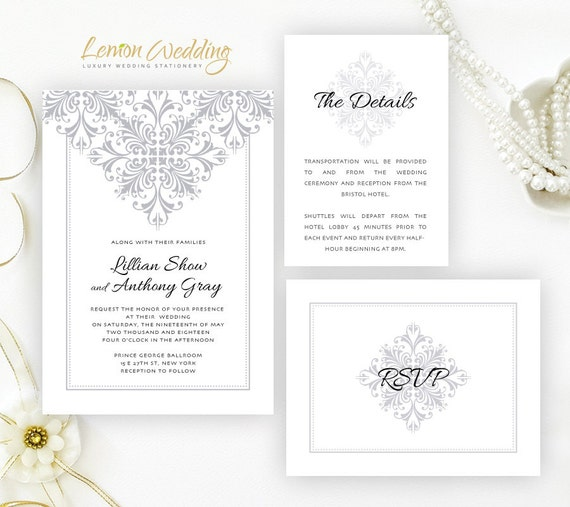 Cheap Cardstock For Wedding Invitations : wedding Invitation sets printed on shimmer cardstock Classy wedding ...