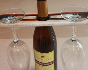Striped wine display holder