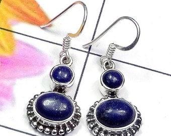 25% Off Sale Lapis Lazuli Earrings, Handmade Earrings, Sterling Silver Earrings, Gemstone Earrings, Dangle Earrings, Fine Silver Earrings, W