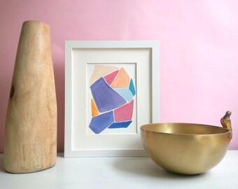 "ORIGINAL Abstract Watercolor | 5"" x 7"" | ""Block Party"""