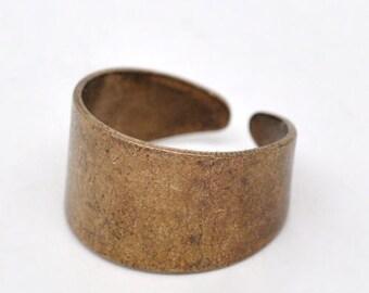 10 Pcs Copper Tone Ring Base Blank Findings (17.5mm)