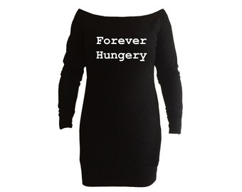 black jersey dress, forever hungery