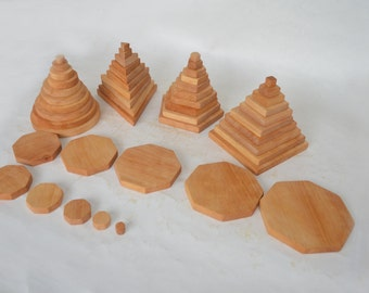 Wooden Figures for Montessori. Wooden toys.