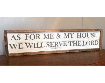 As for me and my house... Wood sign