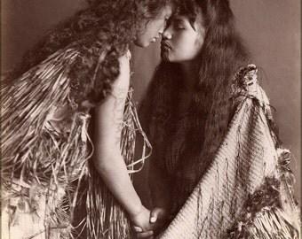 24x36 Poster . Maori Women, New Zealand C1900