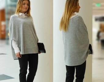 Elegant Poncho Sweater Vest