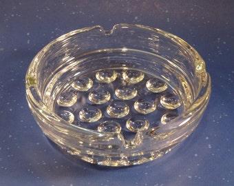 "Vintage ""Bubble"" Glass Ashtray"