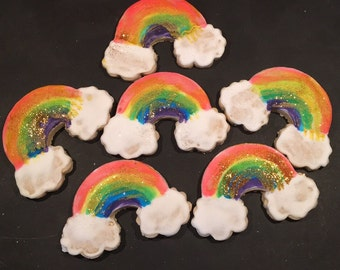 One dozen rainbow cookies
