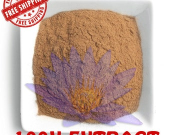 Blue Lotus Herb / Nymphaea Caerulea / Blue Lily of the Nile - Extact Powder