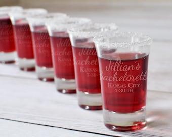 7 Personalized Shot Glasses - Bachelorette Shot Glass - Bachelorette Party - Wedding Shot Glass - Bridal Party Gift - Bachelorette Weekend