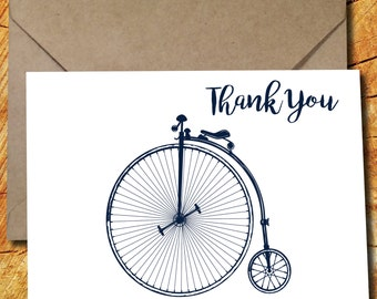 5 Penny Farthing Thank You Cards