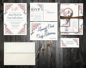 Classic Wedding Invitation Suite (100)
