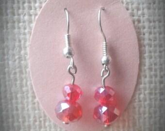 hot orange red earrings