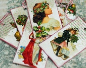 Set of 10 Personally Designed, Hand Made Christmas Tags for Those Very Special Gifts #565
