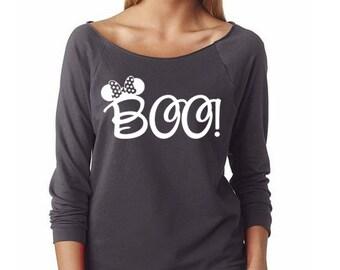 "Disney ""Minnie Boo"" Halloween Shirt // Mickey's Not-So-Scary Halloween Party Shirt // Mickey Halloween Shirt // Disney Halloween Shirt"