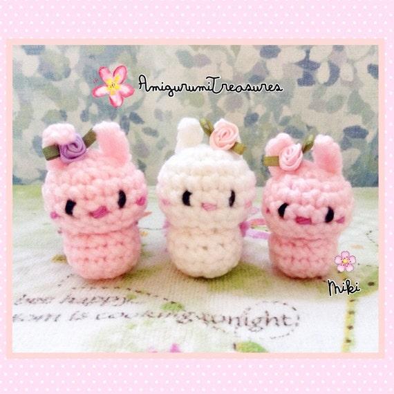 Tiny Amigurumi Rabbit : Tiny Amigurumi Bunnies kawaii plush bunny by ...