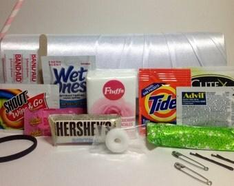 Deluxe CLUTCH - Wedding Day/Honeymoon  Emergency Kit,  Brides Gift, , Wedding Gift , Honeymoon, Shower Gift
