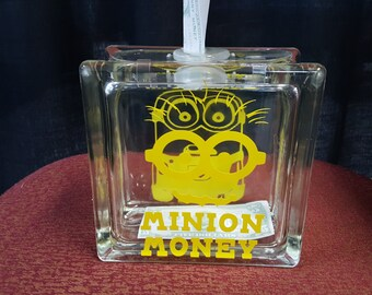 Minion Money Double Sided Glass Bank