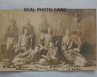 Swedish 1906 Football Rugby Team, Real Photo Postcard, Members Identified, Halsingland