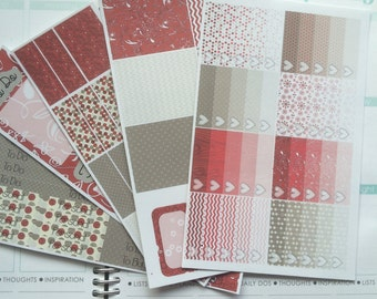 Winter Cranberry Weekly Planner Sticker Kit