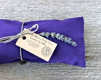 Lavender Eye Pillow - Dark Purple  • Relaxation • Meditation • Yoga • Insomnia • Organic Body Care