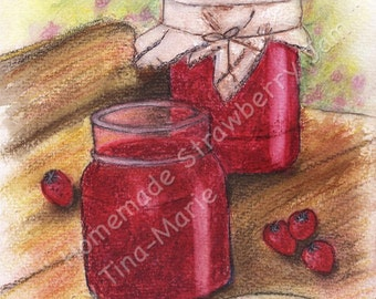 HOMEMADE STRAWBERRY JAM  - Giclee Print