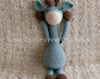Giraffe Amigurumi Stuffed Animal Toy Crochet