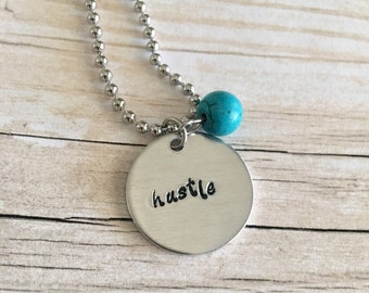 Inspirational Jewelry for Women - Inspirational Necklace - Hustle Jewelry - Hustle Necklace - Jewelry Gifts for Women - Gifts for Wife
