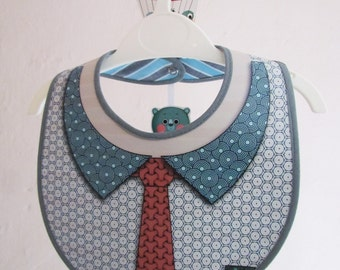 Bib red tie and circles
