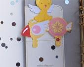 Card Captor Sakura Planner Paperclips  Book Mark - Page Marker - Happy Planner - Erin Condren - Filofax - Notebook Planner - Plum Paper