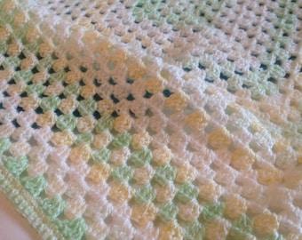 Variegated colour crochet blanket