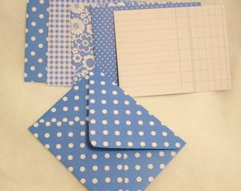 Handmade Envelope - All Blue