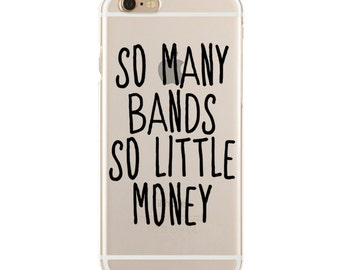 So Many Bands, So Little Money - Professional Fangirl - Slim & Transparent case for iPhone - by HeartOnMyFingers - SLIMCASE-113