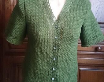 Famous crochet blouse, size M