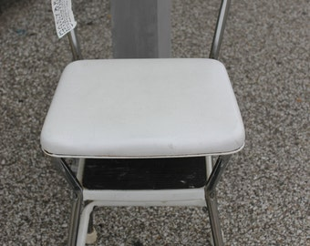 Cosco White Metal Stool***Ask about shipping
