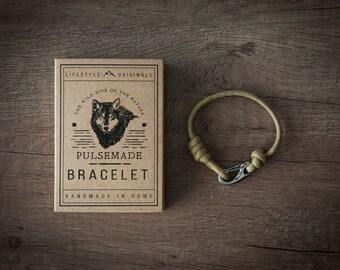Men's bracelet-women's gold unisex Paracord 550-Pulsemade Slim collection-Handmade paracord bracelet Gold Mens/Womens
