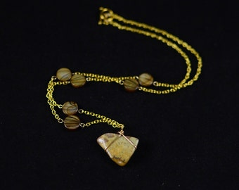 Dinosaur poop fossil - coprolite necklace - Jurassic fossil - Jurassic jewelry - dinosaur jewelry - dinosaur necklace - dinosaur gift
