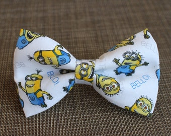 Minion Bow Tie | Bow Tie for Men | For Him | Bowtie | Self Tie | Dog Bow Tie | Mens Bow Tie | Boys Bow Tie | Superhero | Wedding Bow Men