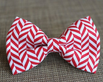 Crazy Candy Cane Bow Tie | Christmas Bow Tie | Boys Bow Tie | Dog Bow Tie | Mens Bow Tie | For Him | Red Bow Tie | Baby Bow Tie